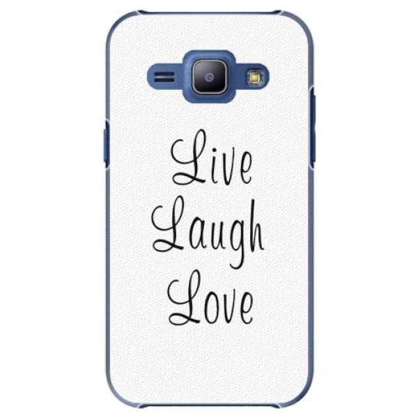 Plastové pouzdro iSaprio - Live Laugh Love - Samsung Galaxy J1