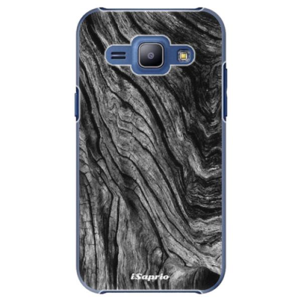 Plastové pouzdro iSaprio - Burned Wood - Samsung Galaxy J1