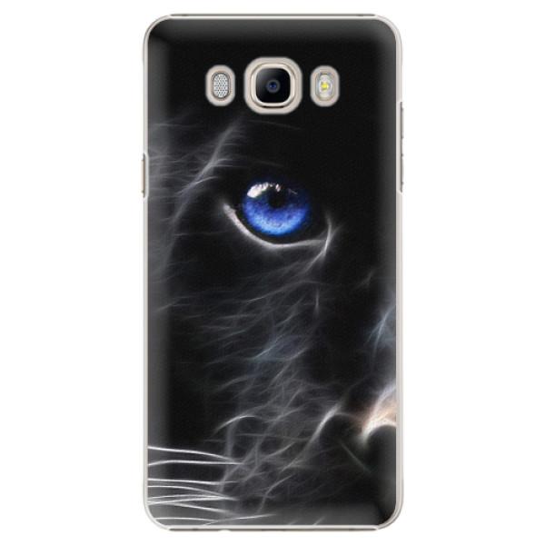 Plastové pouzdro iSaprio - Black Puma - Samsung Galaxy J7 2016