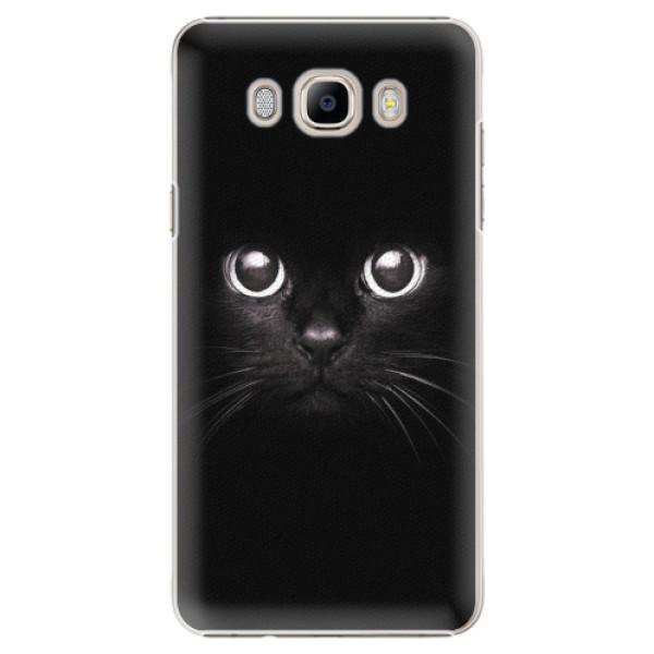 Plastové pouzdro iSaprio - Black Cat - Samsung Galaxy J7 2016