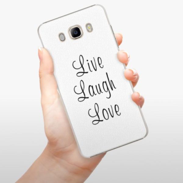 Plastové pouzdro iSaprio - Live Laugh Love - Samsung Galaxy J7 2016