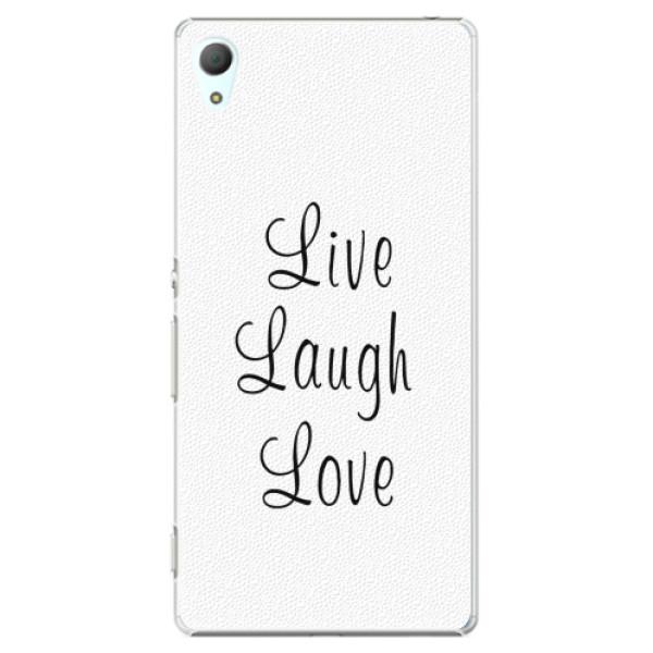 Plastové pouzdro iSaprio - Live Laugh Love - Sony Xperia Z3+ / Z4