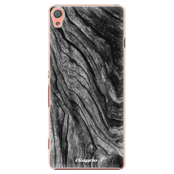 Plastové pouzdro iSaprio - Burned Wood - Sony Xperia XA