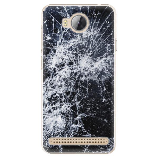 Plastové pouzdro iSaprio - Cracked - Huawei Y3 II