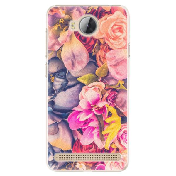 Plastové pouzdro iSaprio - Beauty Flowers - Huawei Y3 II