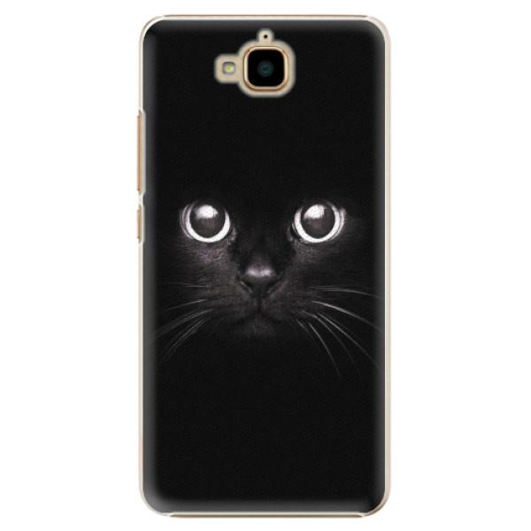 Plastové pouzdro iSaprio - Black Cat - Huawei Y6 Pro