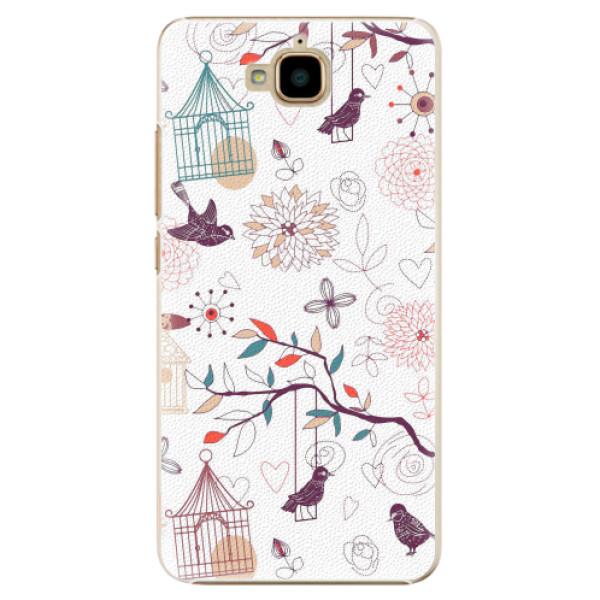 Plastové pouzdro iSaprio - Birds - Huawei Y6 Pro