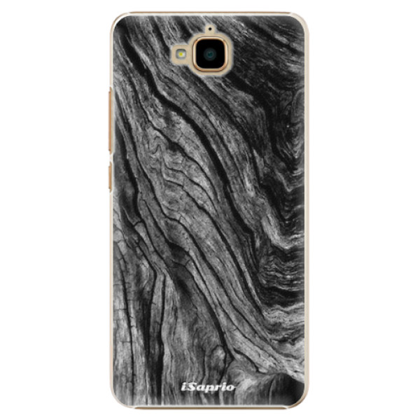 Plastové pouzdro iSaprio - Burned Wood - Huawei Y6 Pro