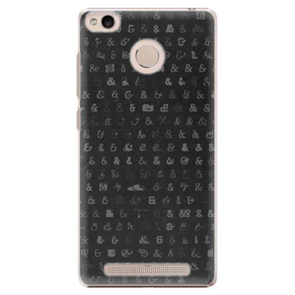 Plastové pouzdro iSaprio - Ampersand 01 - Xiaomi Redmi 3S