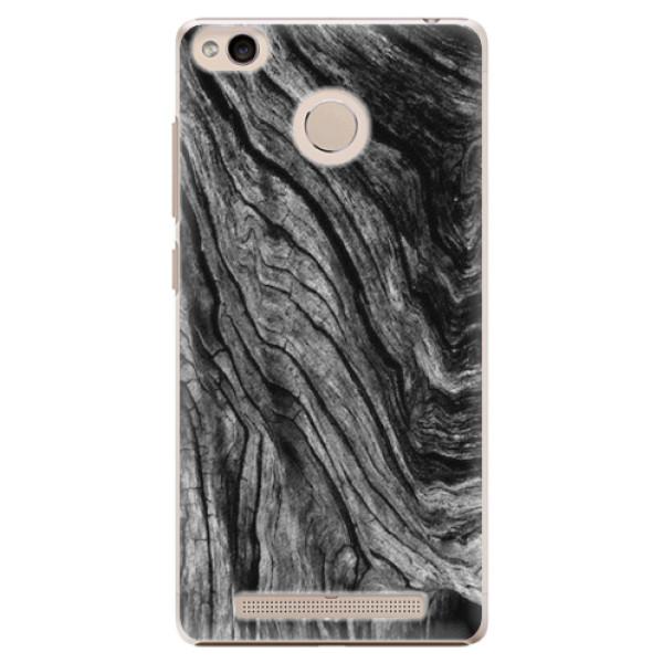Plastové pouzdro iSaprio - Burned Wood - Xiaomi Redmi 3S