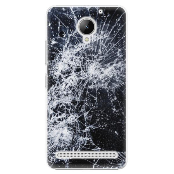 Plastové pouzdro iSaprio - Cracked - Lenovo C2