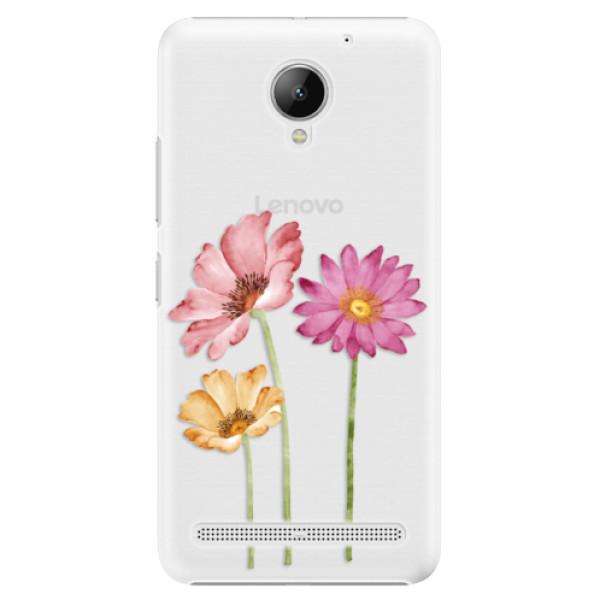 Plastové pouzdro iSaprio - Three Flowers - Lenovo C2