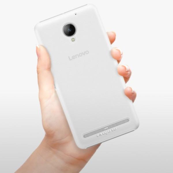 Plastové pouzdro iSaprio - 4Pure - mléčný bez potisku - Lenovo C2