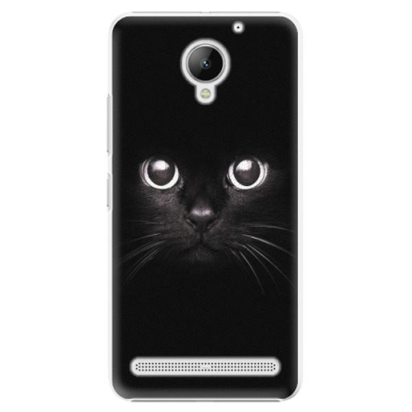 Plastové pouzdro iSaprio - Black Cat - Lenovo C2