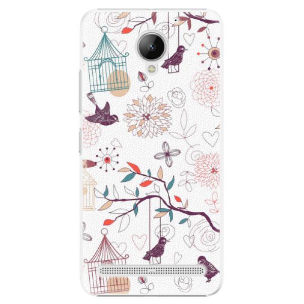 Plastové pouzdro iSaprio - Birds - Lenovo C2