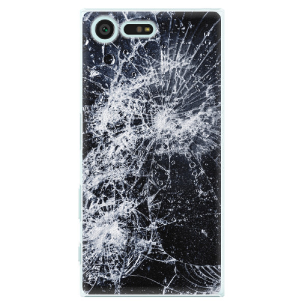 Plastové pouzdro iSaprio - Cracked - Sony Xperia X Compact