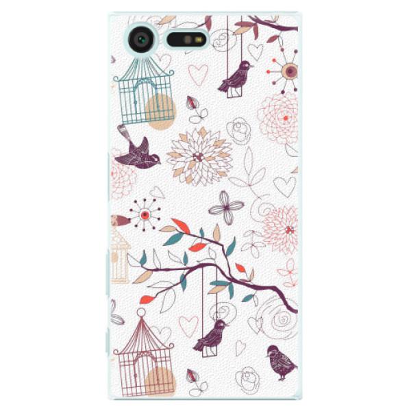 Plastové pouzdro iSaprio - Birds - Sony Xperia X Compact