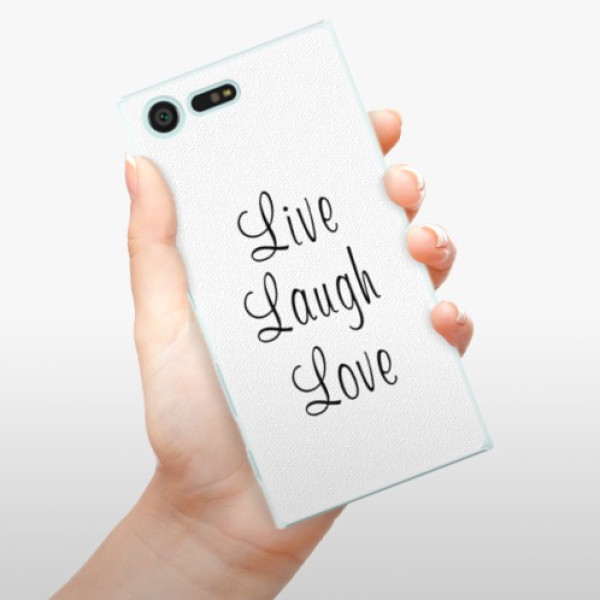 Plastové pouzdro iSaprio - Live Laugh Love - Sony Xperia X Compact
