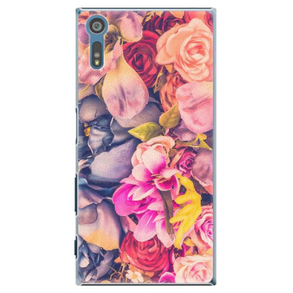Plastové pouzdro iSaprio - Beauty Flowers - Sony Xperia XZ