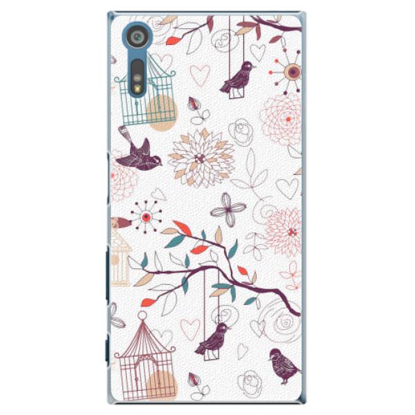 Plastové pouzdro iSaprio - Birds - Sony Xperia XZ