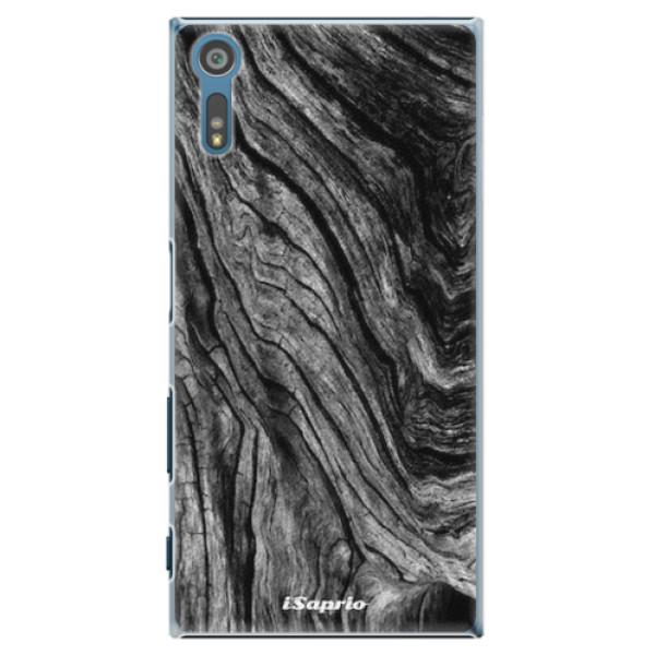 Plastové pouzdro iSaprio - Burned Wood - Sony Xperia XZ