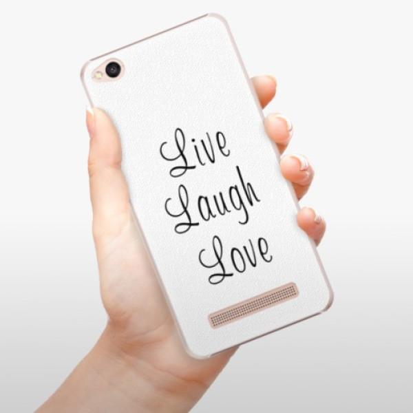 Plastové pouzdro iSaprio - Live Laugh Love - Xiaomi Redmi 4A