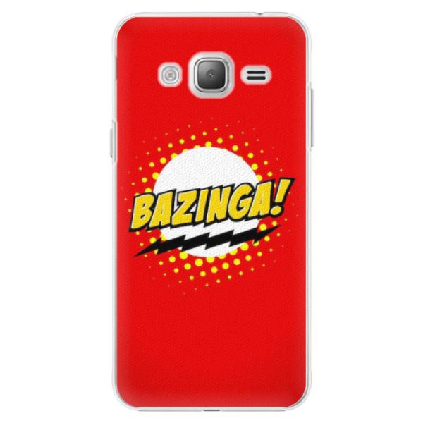 Plastové pouzdro iSaprio - Bazinga 01 - Samsung Galaxy J3