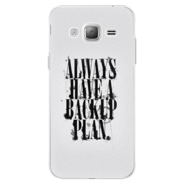 Plastové pouzdro iSaprio - Backup Plan - Samsung Galaxy J3