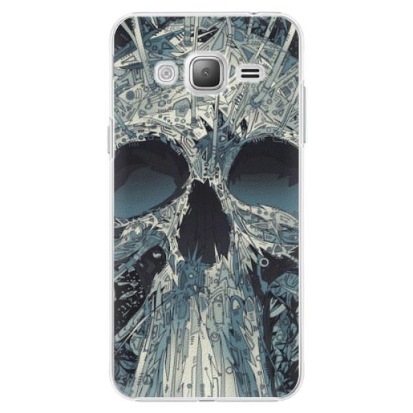 Plastové pouzdro iSaprio - Abstract Skull - Samsung Galaxy J3