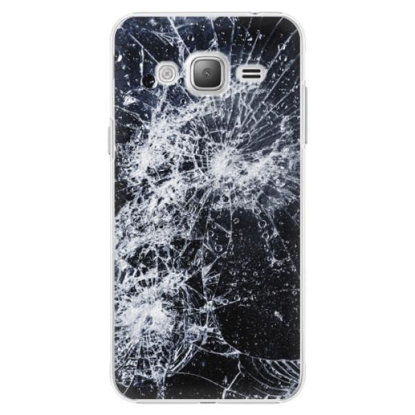 Plastové pouzdro iSaprio - Cracked - Samsung Galaxy J3