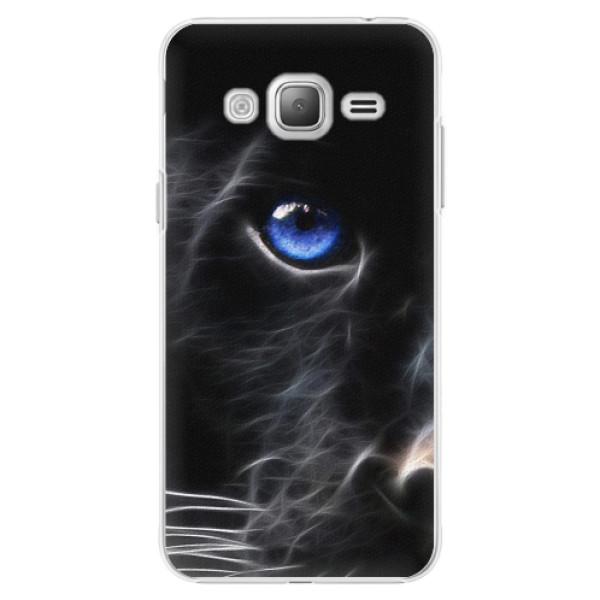 Plastové pouzdro iSaprio - Black Puma - Samsung Galaxy J3