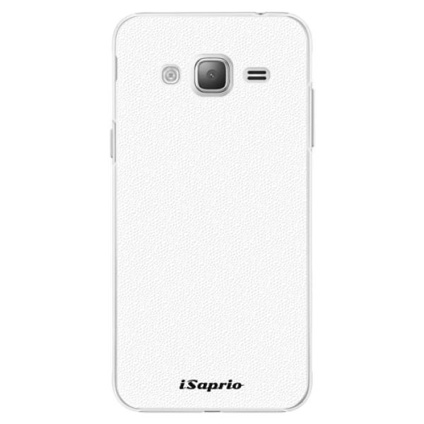 Plastové pouzdro iSaprio - 4Pure - bílý - Samsung Galaxy J3