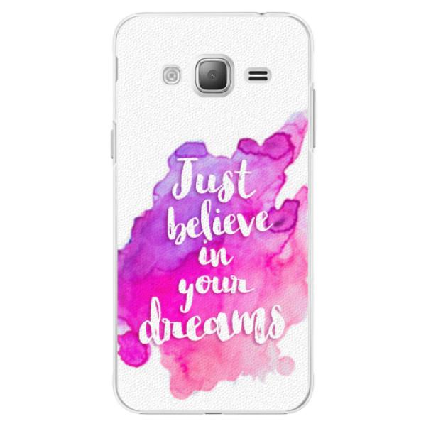 Plastové pouzdro iSaprio - Believe - Samsung Galaxy J3