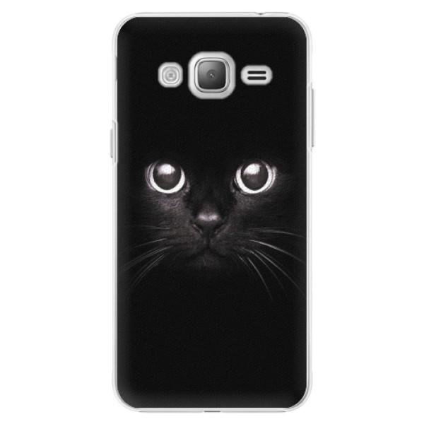 Plastové pouzdro iSaprio - Black Cat - Samsung Galaxy J3