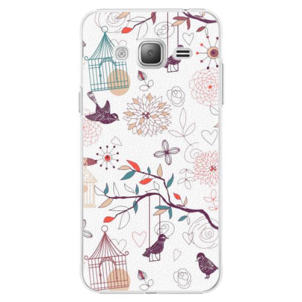 Plastové pouzdro iSaprio - Birds - Samsung Galaxy J3