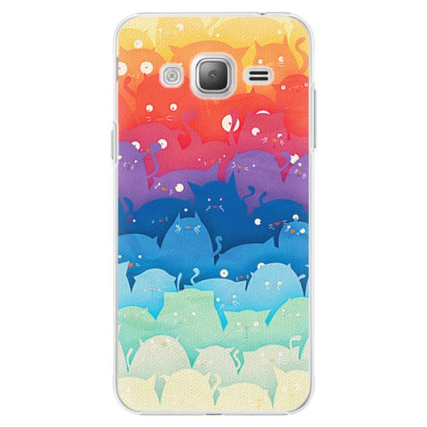 Plastové pouzdro iSaprio - Cats World - Samsung Galaxy J3