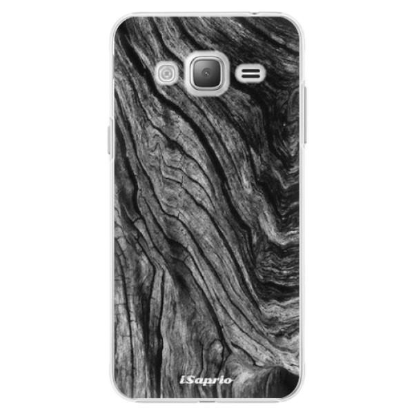 Plastové pouzdro iSaprio - Burned Wood - Samsung Galaxy J3