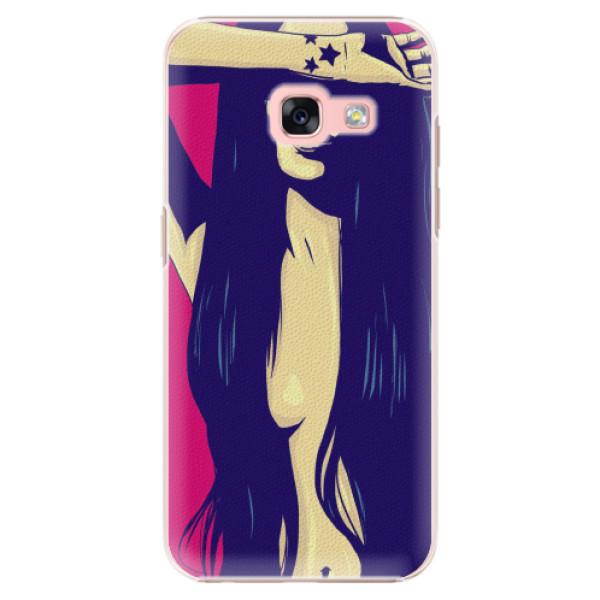 Plastové pouzdro iSaprio - Cartoon Girl - Samsung Galaxy A3 2017