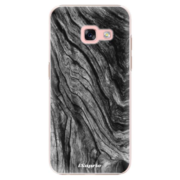 Plastové pouzdro iSaprio - Burned Wood - Samsung Galaxy A3 2017