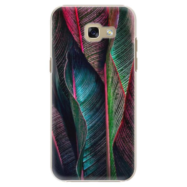 Plastové pouzdro iSaprio - Black Leaves - Samsung Galaxy A5 2017