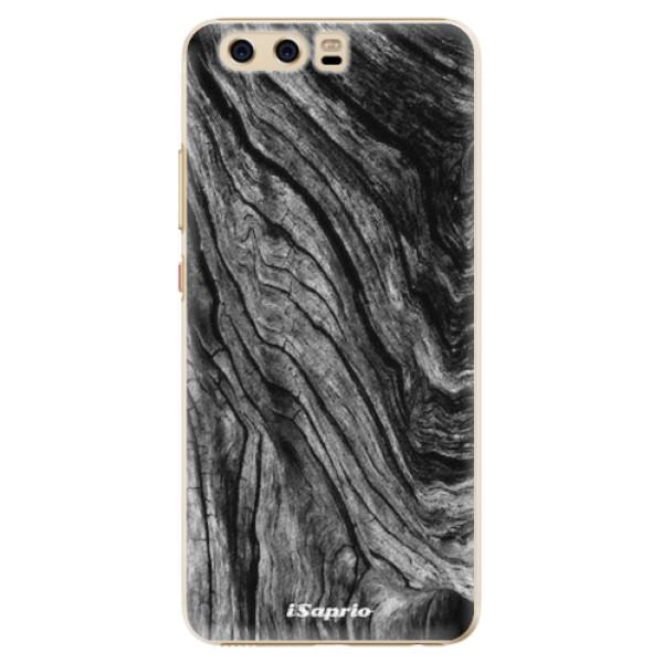 Plastové pouzdro iSaprio - Burned Wood - Huawei P10