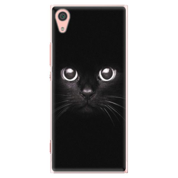 Plastové pouzdro iSaprio - Black Cat - Sony Xperia XA1