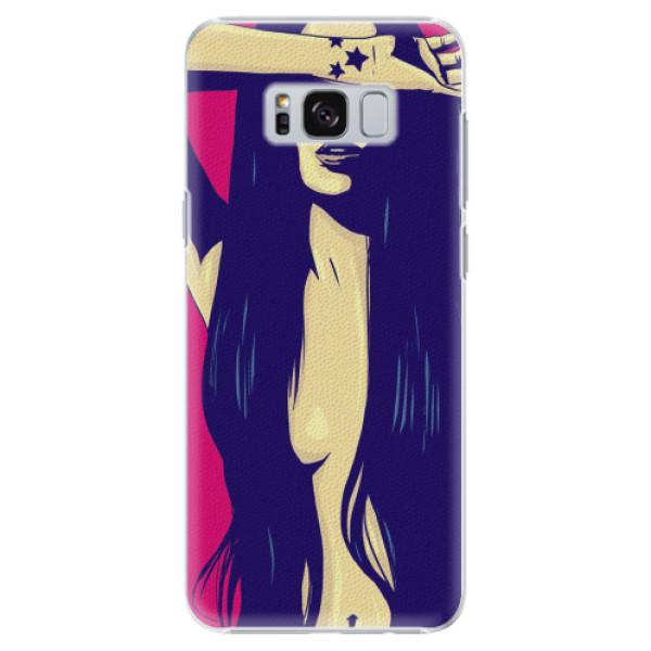 Plastové pouzdro iSaprio - Cartoon Girl - Samsung Galaxy S8