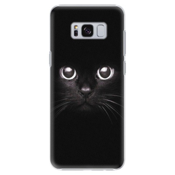 Plastové pouzdro iSaprio - Black Cat - Samsung Galaxy S8