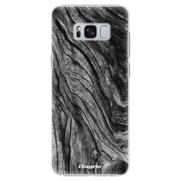 Plastové pouzdro iSaprio - Burned Wood - Samsung Galaxy S8