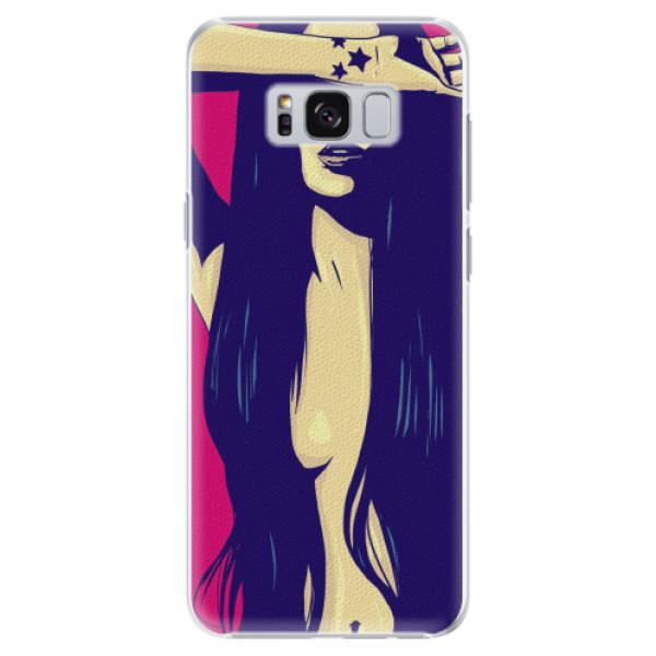 Plastové pouzdro iSaprio - Cartoon Girl - Samsung Galaxy S8 Plus