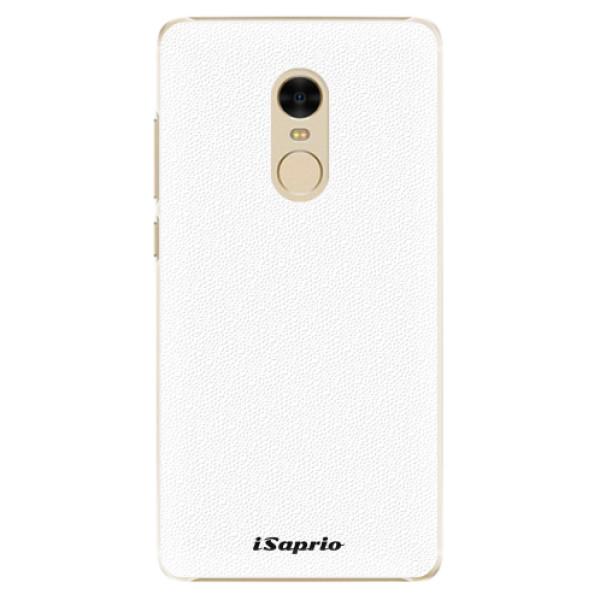 Plastové pouzdro iSaprio - 4Pure - bílý - Xiaomi Redmi Note 4