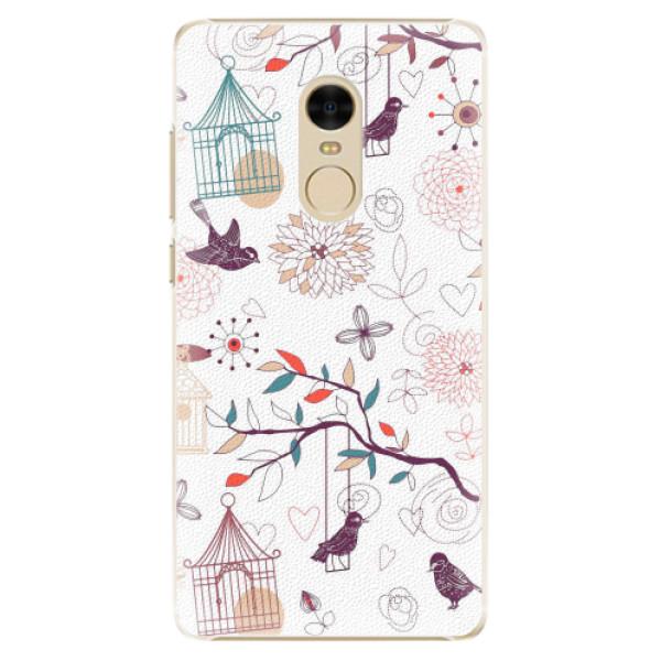 Plastové pouzdro iSaprio - Birds - Xiaomi Redmi Note 4