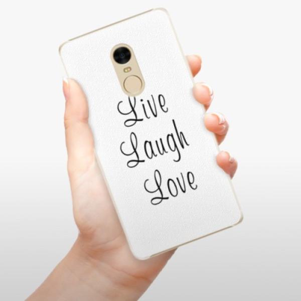Plastové pouzdro iSaprio - Live Laugh Love - Xiaomi Redmi Note 4