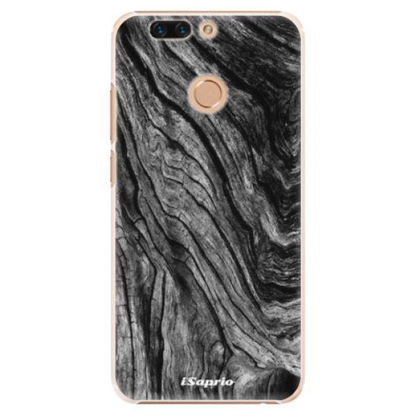Plastové pouzdro iSaprio - Burned Wood - Huawei Honor 8 Pro